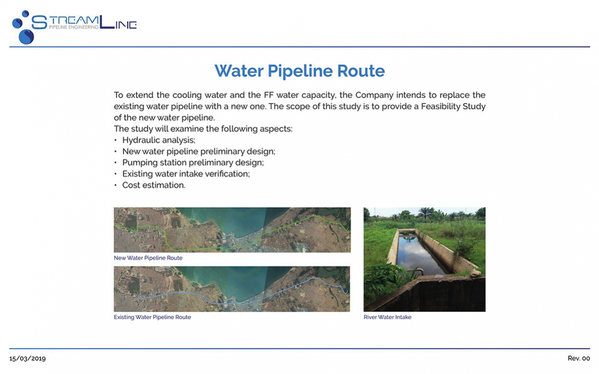 New water pipeline